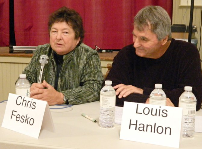 Democrat Chris Fesko, left, won the Spafford special election for a two-year term on the town board and Democrat Lou Hanlon, right, is currently three votes ahead of fellow Democrat Kathy Bragg-Adams for one of the two four-year seats on the board.