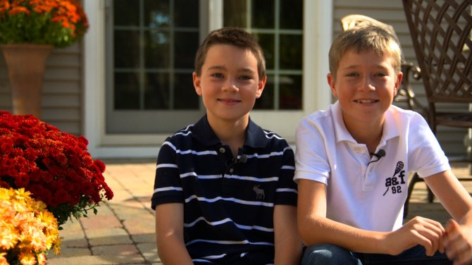 Ben Crandall, left, and Jack Chaney, right, are 11-year-old cousins who will attend the 11th Emerald Eve in honor of their aunt, Donna, for the first time.