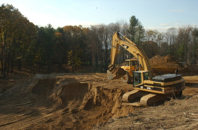 Clearing and construction work will continue through the winter at the Vista Technology Park off of Route 85.