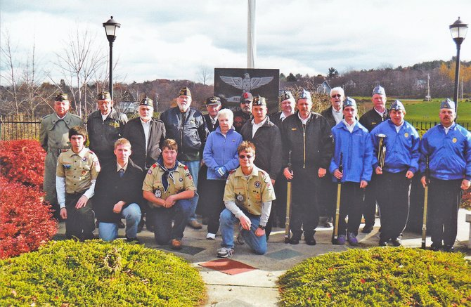The Ticonderoga American Legion marked Veterans Day Nov. 11 with a ceremony at the town veterans monument in Bicentennial Park.