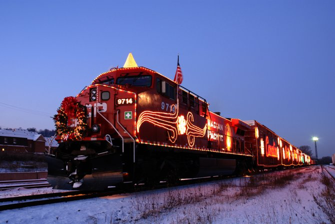The Canadian Pacific Holiday Train will makes its first stop at the ALCO Heritage Museum in Schenectady on Sunday, Nov. 27, at 7 p.m.
