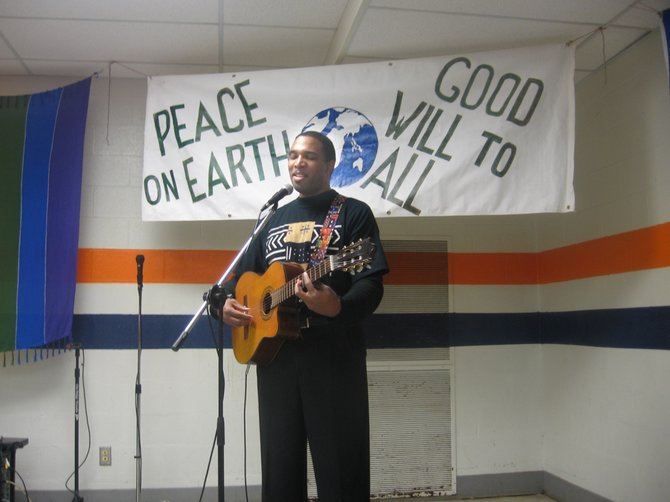 One Black Voice, a.k.a. guitarist Jacques Thomas, will perform at 1 p.m. Sunday, Dec. 4, at the 41st annual Plowshares Craftsfair and Peace Festival, at Nottingham High School, 3100 E. Genesee St.