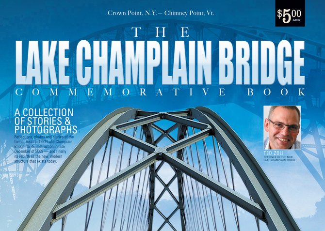 Lake Champlain Bridge Commemorative Book cover.