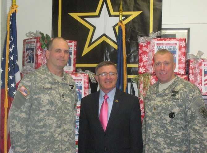 Senator John A. DeFrancisco with Major Debock and Master Sergeant Palumb.  
