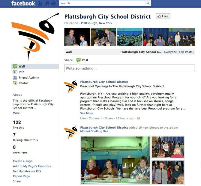 Plattsburgh City School's Facebook page.