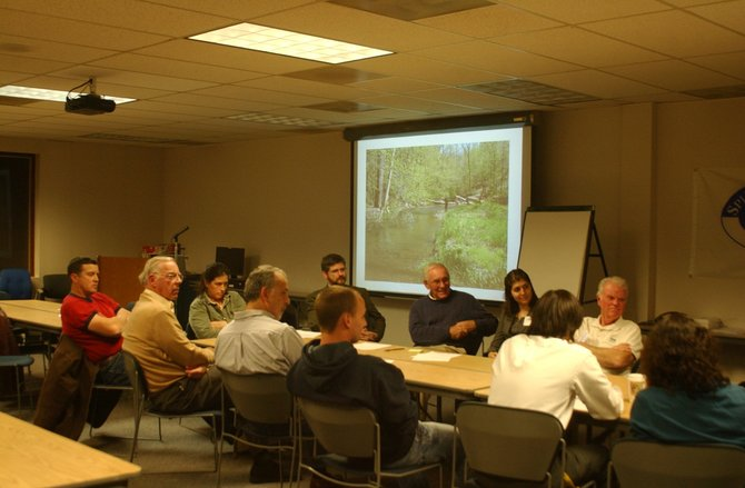 The Onesthequaw Coeymans Watershed Council sponsored a meeting Wednesday, Nov. 30 at the CSX Auditorium in Selkirk. Residents from Ravena to New Scotland came to discuss flooding concerns and problems they experienced during Tropical Storm Irene. 