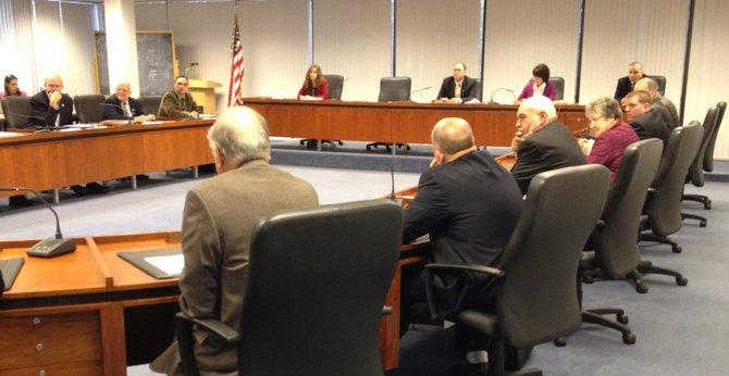 The Madison County Board of Supervisors met on Nov. 29 for the public hearing on the 2012 budget.