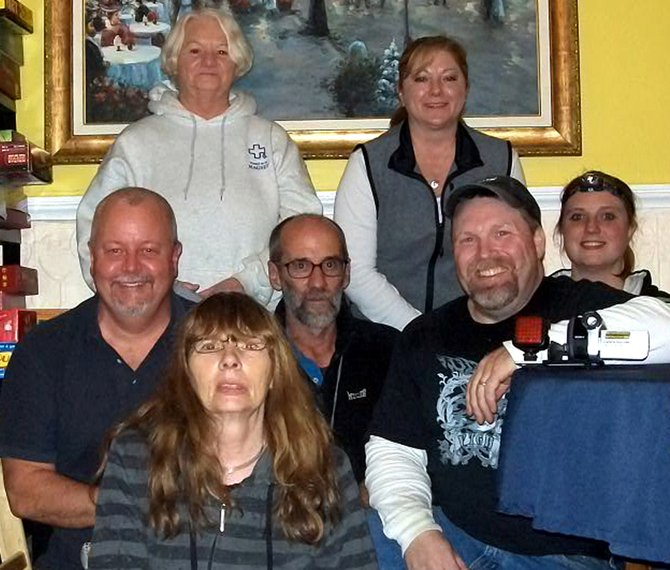 They ain't afraid of no ghosts: Members of Vermont Ghost Hunters—Joe Fitzgerald, Jenny Wade, Kate Farrell, Marie Fitzgerald, Steve Poor, Robert McConnell, and Marsha Jones—spent a night in the Silas Griffith Inn in Danby Nov. 18.