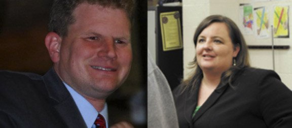 Democrats Dan Maffei, left, and Brianne Murphy, right, have both announced they will seek to challenge Republican Ann Marie Buerkle for the congressional seat.
