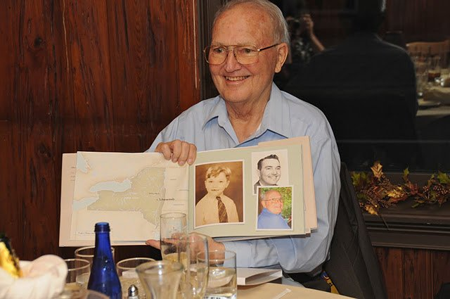 "Tom Norton, 81, has his own ""book"" created by his daughter called ""Tom Norton: A Celebrated Life."""