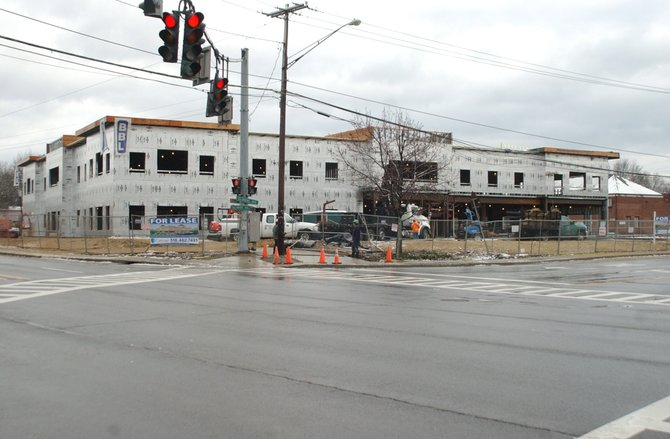 A new Delmar Medical Arts Building will be completed in 2012 at the intersection. Town officials once the current medical building is torn down, the amount of green space at the property will increase from 4 to 16 percent.