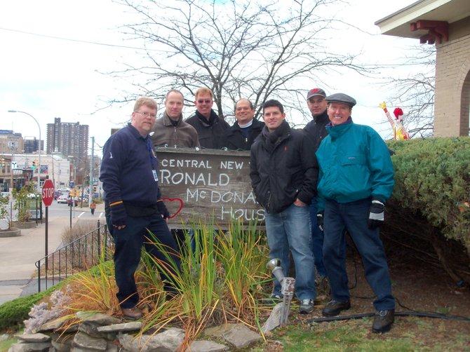National Grid employees, from left to right: John McGraw, Dave Campbell, Ken Brann, Dan DeMauro, Zak Pienkowski, Jeff Davis and Kevin Feeney.