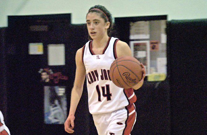 Katie Stuart of Tupper Lake scored 21 points to help lead the Lady Lumberjacks past Chateaugay.