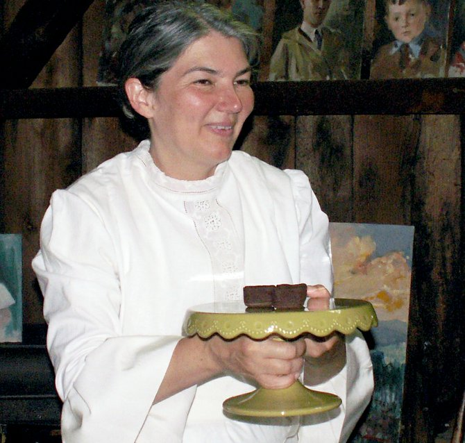 "Kathleen Recchia as Emily Dickinson in ""The Belle of Amherst."""