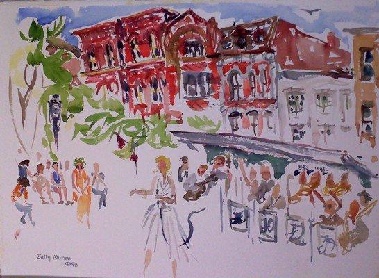 """Betty Munro's watercolor, """"Hanover Square"""""""