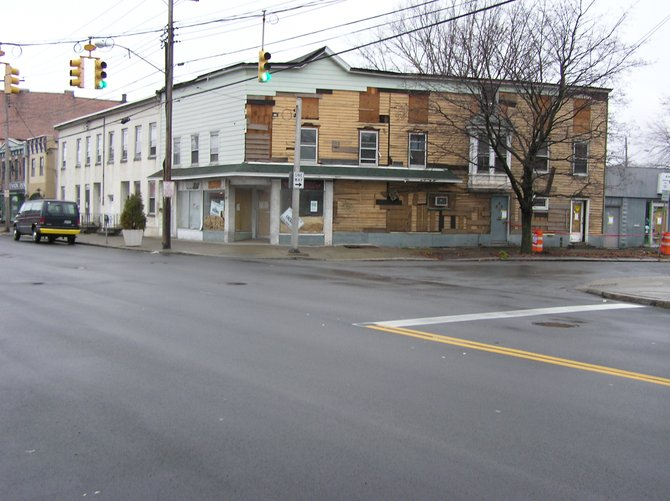 The vacant building on the corner of Union and Barrett Streets is slated to become the site of new upscale apartments.