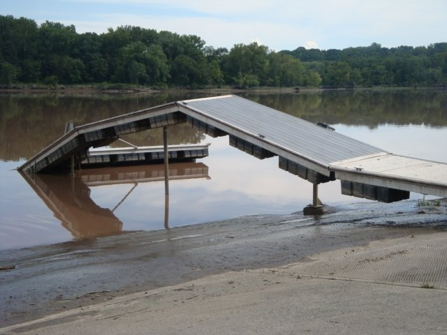 A list of projects, such as repair of a damaged dock at Henry Hudson Park, will cost Bethlehem $4.3 million. 75 percent of that cost will be reimbursed by the Federal Emergency Management Agency, leaving the town and state on the hook for about $540,000 each. (photo courtesy of Town of Bethlehem)