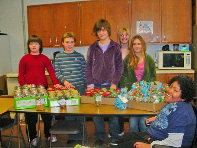 Champlain Valley Educational Services students sold soup and cookies during the holiday season to raise money for the Moriah Food Pantry. Students taking part included Lorrie Carron, Mike Ennengna, Jen Tefoe and Austin Stevens of Crown Point; Bethany Simard, Dakota Cutting and Matt Aube of Moriah; Dustin Woodard of Schroon Lake; and Casey Hargett and Eric Morin of Ticonderoga.