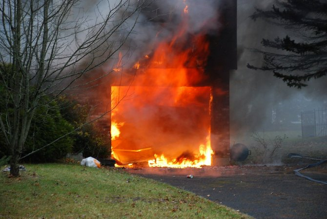 A fire ripped through a home in Selkirk Wed. Dec. 20 at the Elm Estates on Fairlawn Drive. No one was injured, but the house sustained severe damage.