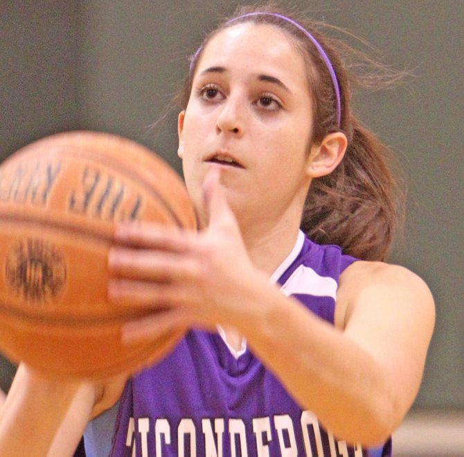 Despite the play of Andrea Rich, Ticonderoga ell to Beekmantown, 60-32, in Champlain Valley Athletic Conference girls basketball play Dec. 21.