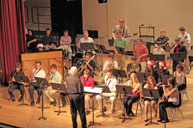 This holiday season Ti student musicians had four performances — the annual community Tiny Tim concert, the Kiwanis senior citizen holiday party, a visit to Heritage Commons nursing home and the annual school concert — in two weeks. That flurry of activities capped four months of rehearsals.