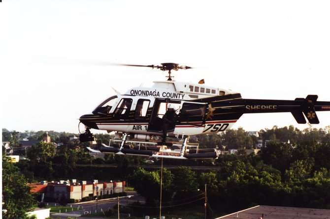 Air-1 flies over central New York, but funding cuts has made the Sheriff look elsewhere.