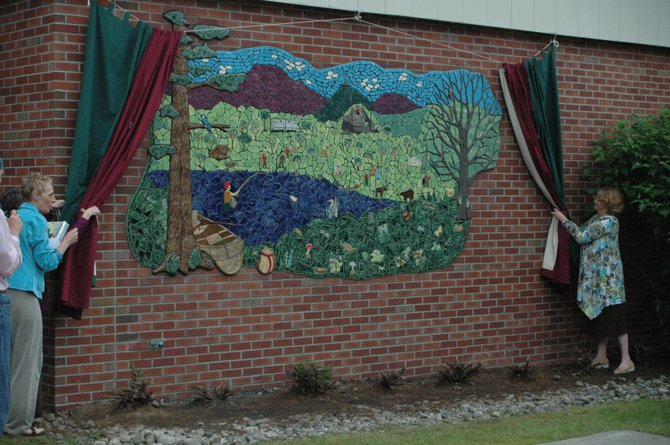The mural at Keene Central School