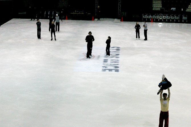 "Skaters practice for the ""Stars on Ice"" show taking place Dec. 30 at 7:30 p.m."