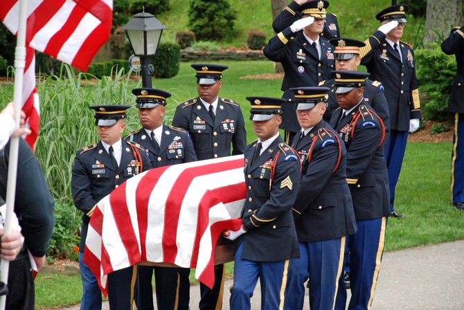 Honor Guard members go through a weeklong training to prepare for administering military funerals.