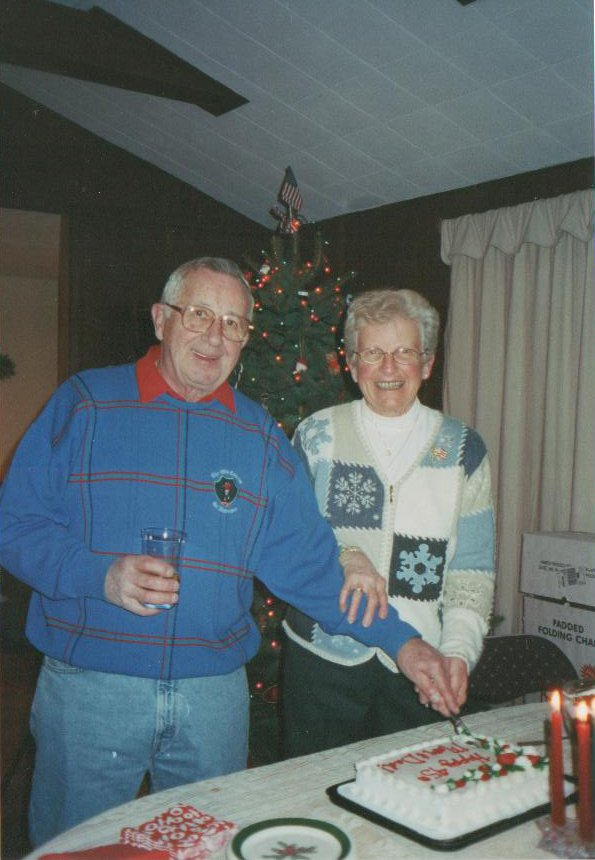 Sam and Barb Usborne on their 55th wedding anniversary, Dec. 29, 2011.