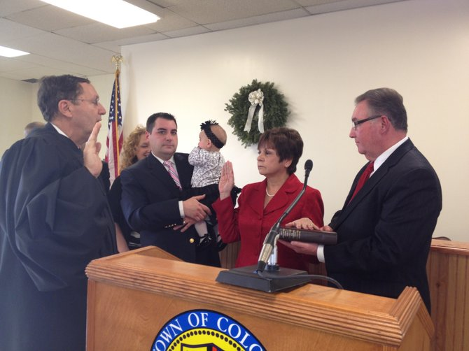 Supervisor Paula Mahan was sworn in to office on Sunday, Jan. 1.