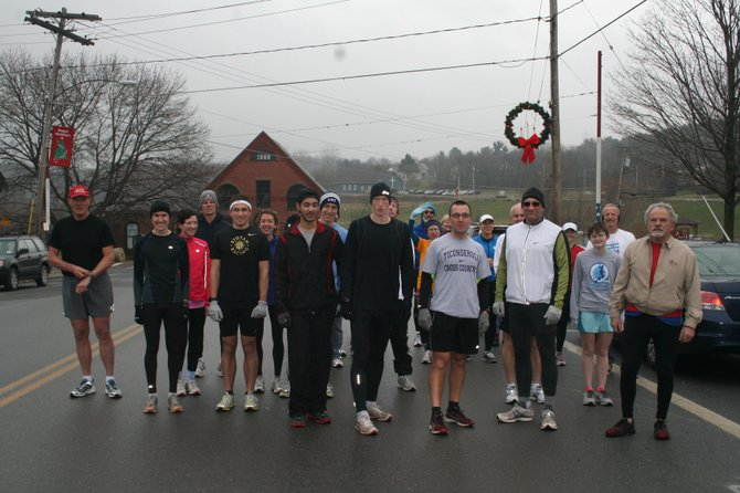 The 10th annual Resolution Run was held in Ticonderoga Jan. 1. The event was sponsored by the LaChute Road Runners Club of Ti.