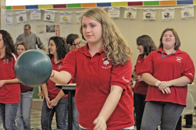 Moriah's Rachel Demarais fired a 134 game and 343 series as the Vikings fell to Willsboro in Champlain Valley Athletic Conference bowling action Jan. 3.