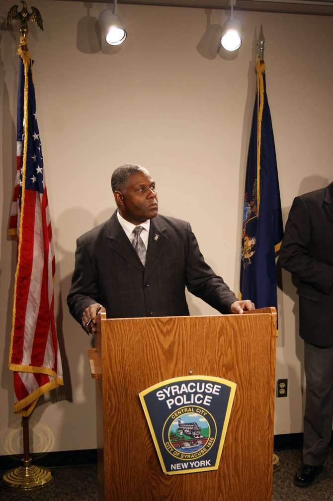 Syracuse Police Chief Frank Fowler showcases the new website where cold cases are being highlighted.