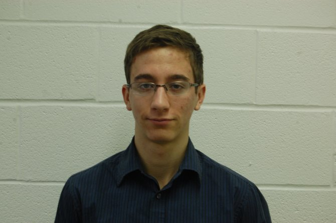 Charles Simpson, a senior at Beekmantown Central School, is the student representative on the school board.
