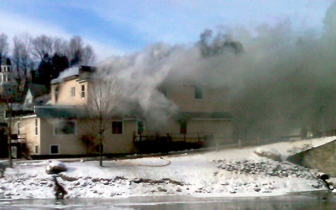 Firefighters from seven departments were on the scene of a structure fire in Willsboro Monday Morning, Jan. 16.