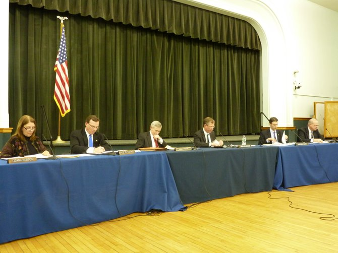 The Bethlehem Town Board at its first meeting of the year.
