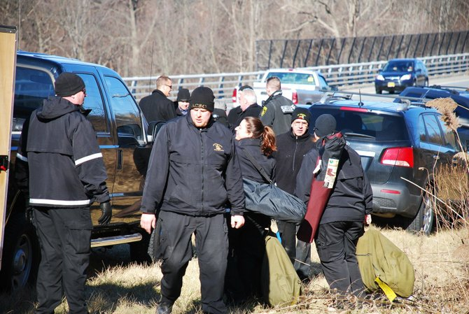 Police spent the morning of Wednesday, Jan. 18, and part of the preceding night, searching for a Chatham man who apparently committed suicide by jumping from the Route 9W bridge over the Normanskill.
