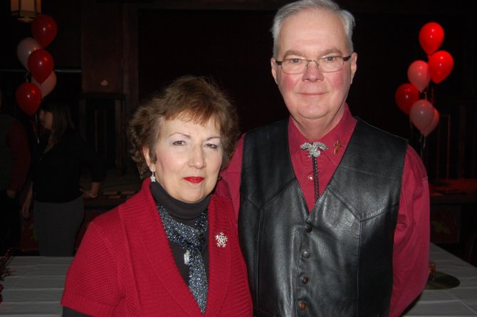 Louise and Ed Mazuchowski at the awards ceremony for the American Heart Association 2011 Heart Walk.