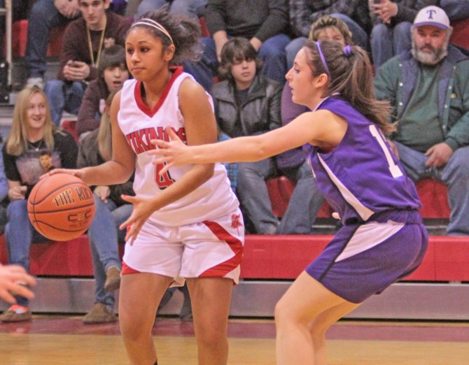 Jasmine Callis led Moriah with 10 points as Moriah beat Seton Catholic, 36-25, in Champlain Valley Athletic Conference girls basketball play Jan. 19.