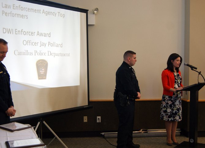 Officer Jay Pollard was recognized by the Onondaga County Traffic Safety Board on Jan. 11.