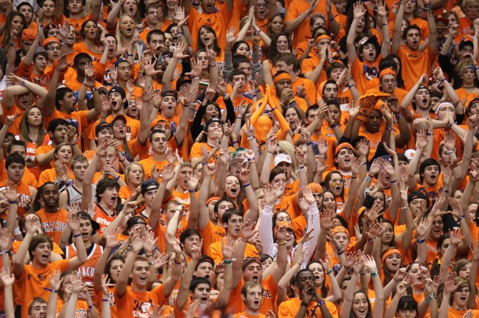 The crowd at a Syracuse men's basketball game last year was raucous.