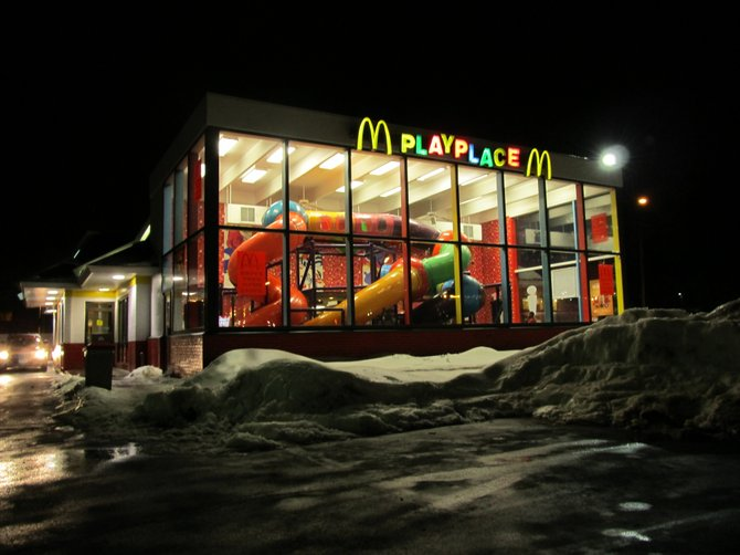 The Holland Avenue McDonald's in Albany is one of 11 in the Capital District that offers a Playplace kids can use no matter how cold or snowy it is outside.