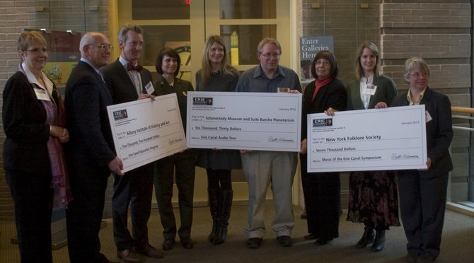 The Erie Canalway National Heritage Corridor Commission awarded three Capital District organizations with grants on Friday, Jan. 13, to assist with canal-related education, preservation and tourism projects.