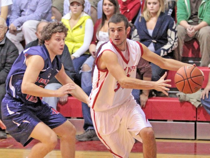 Landon Cross scored 16 points as Moriah lost to Plattsburgh, 43-40, in Champlain Valley Athletic Conference boys basketball action Jan. 27.