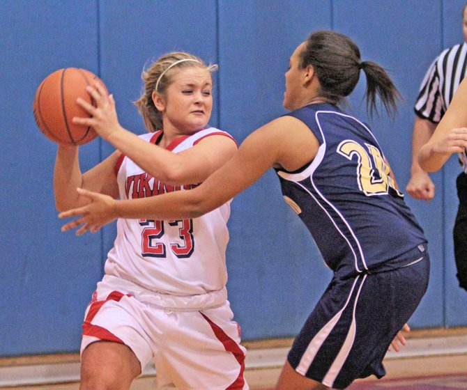 Lauren Pelkey scored eight points as Moriah  beat Lake Placid, 41-33, in Champlain Valley Athletic Conference girls basketball action Jan. 30.