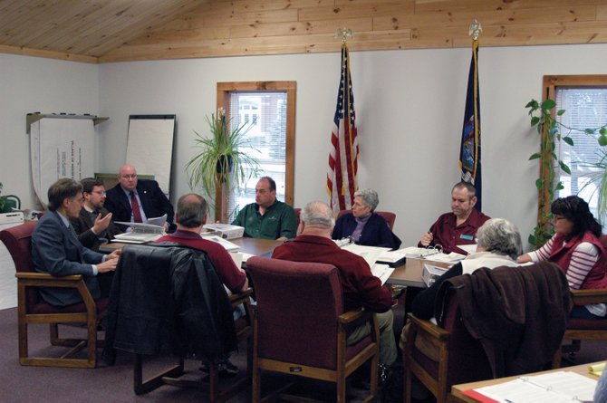 Members of the Village of Keeseville dissolution committee met Jan. 31 with developers, a member of the Department of State and local town supervisors.