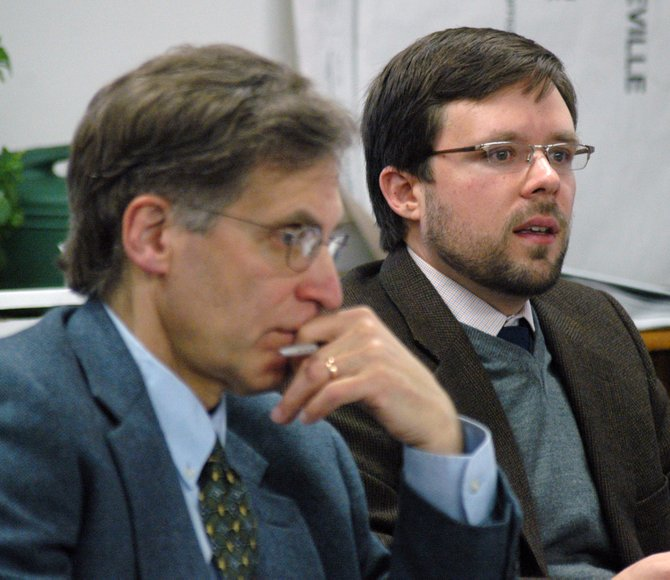Peter Fairweather of Fairweather Consulting and Tim Weidmann of Rondout Consulting.