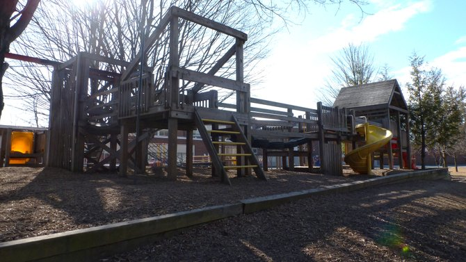 The current Elsmere Elementary playground