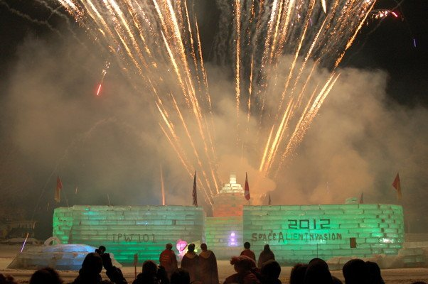 Fireworks display at the Saranac Lake Winter Carnival Feb. 4